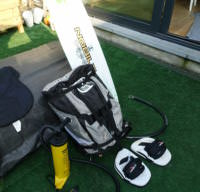 A VOIR: Kite kit complet Aile 9m2 + Barre + Board + Combi