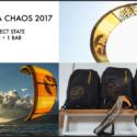 3 KITE CABRINHA CHAOS 2017 (7M - 9M - 11M) + BARRE : 1800€