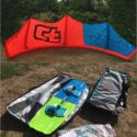 Kite Crazyfly Sculp 14m + Board Carbon Crazyfly Raptor